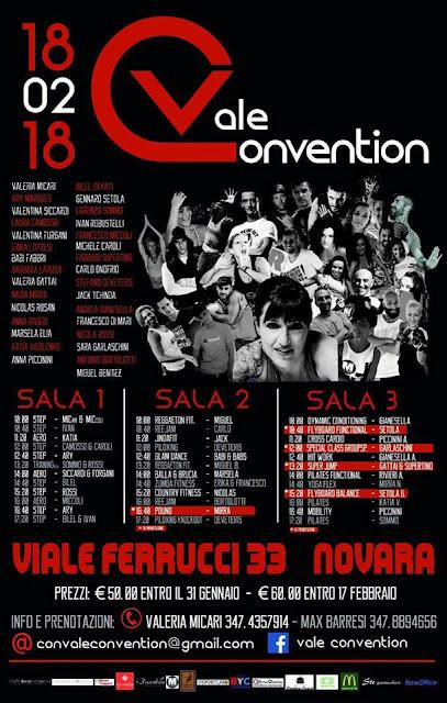 Vale Convention, 18 Febbraio a Novara    Evento unico  3 palchi /36 masterclass /31 presenter e istructor