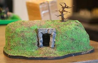A barrow (burial mound) that I made