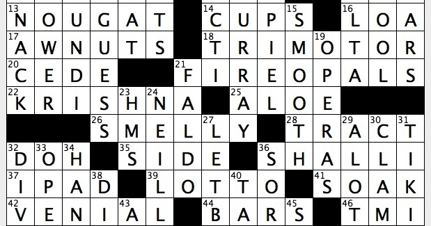 Single minded crossword puzzle