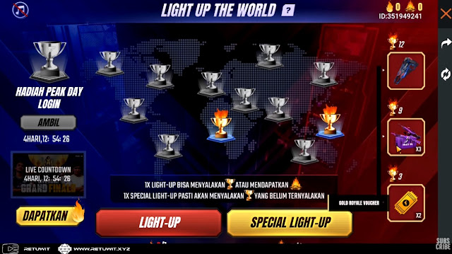 spin light up the world