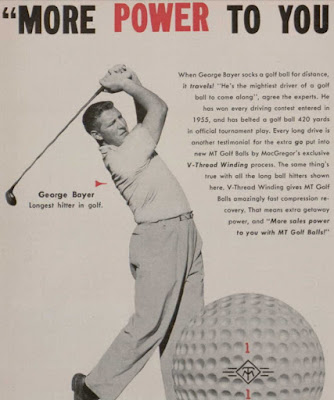 golfer George Bayer in a MacGregor ad