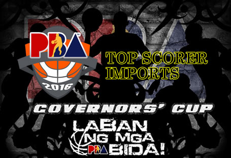 List of Leading Scorers: Imports 2016 PBA Governors' Cup