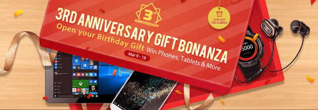 Gearbest Gifts and Prizes, 3rd anniversary