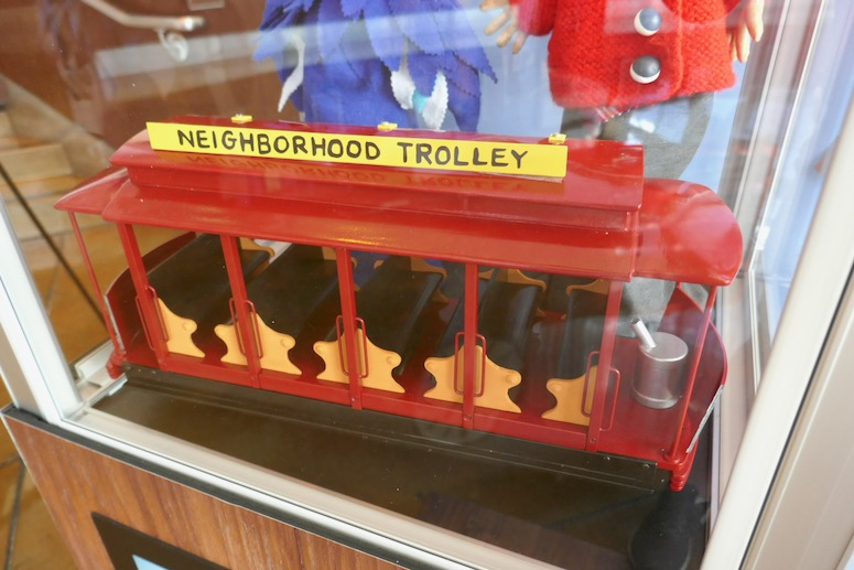 A Beautiful Day Neighborhood Mister Rogers trolley prop