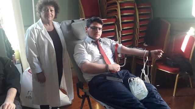 Για εθελοντική αιμοδοσία προσήλθαν οι καταρτιζόμενοι της Τουριστικής Σχολής  στο Άργος