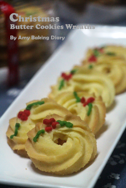 Amy Baking Diary Christmas Butter Cookies Wreaths