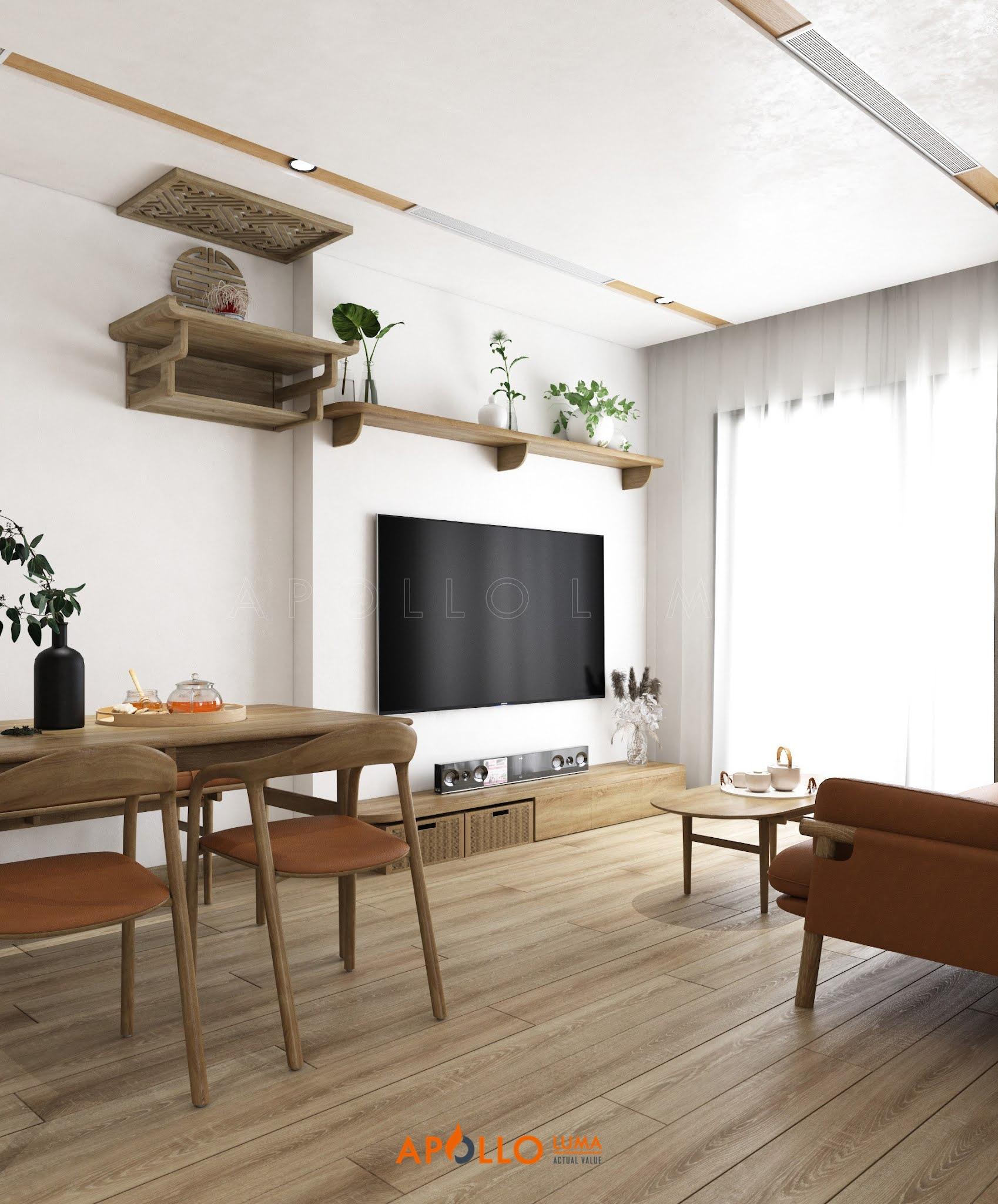 Thiết kế nội thất căn 1 phòng ngủ Vinhomes Smart City Tây Mỗ