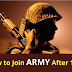 How to Join Army After 12th: Get Details here