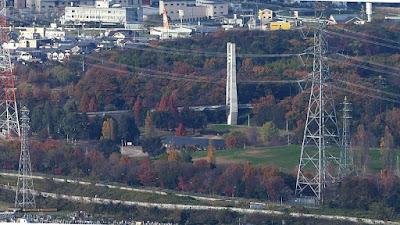 交野山 頂上からの眺め 山田池公園