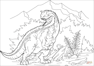 Megalosaurus Coloring Pages Images For Kids