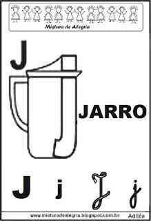 Alfabeto ilustrado letra J