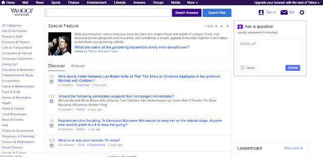 Mencari Topik Artikel dari Situs tanya Jawab