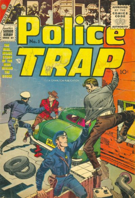 Simon-Kirby Police Trap Charlton Comics