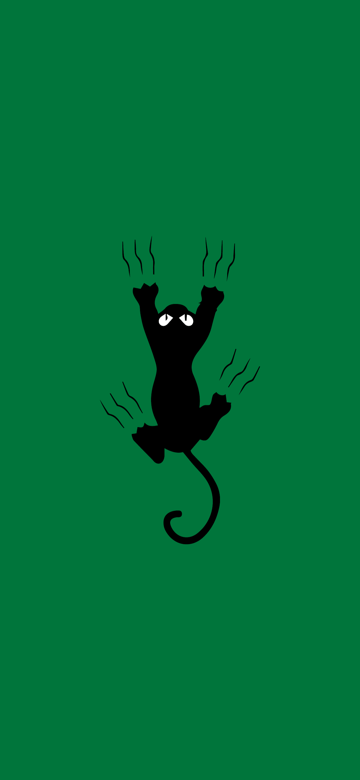 cat scratching minimalist wallpaper hd for phone green