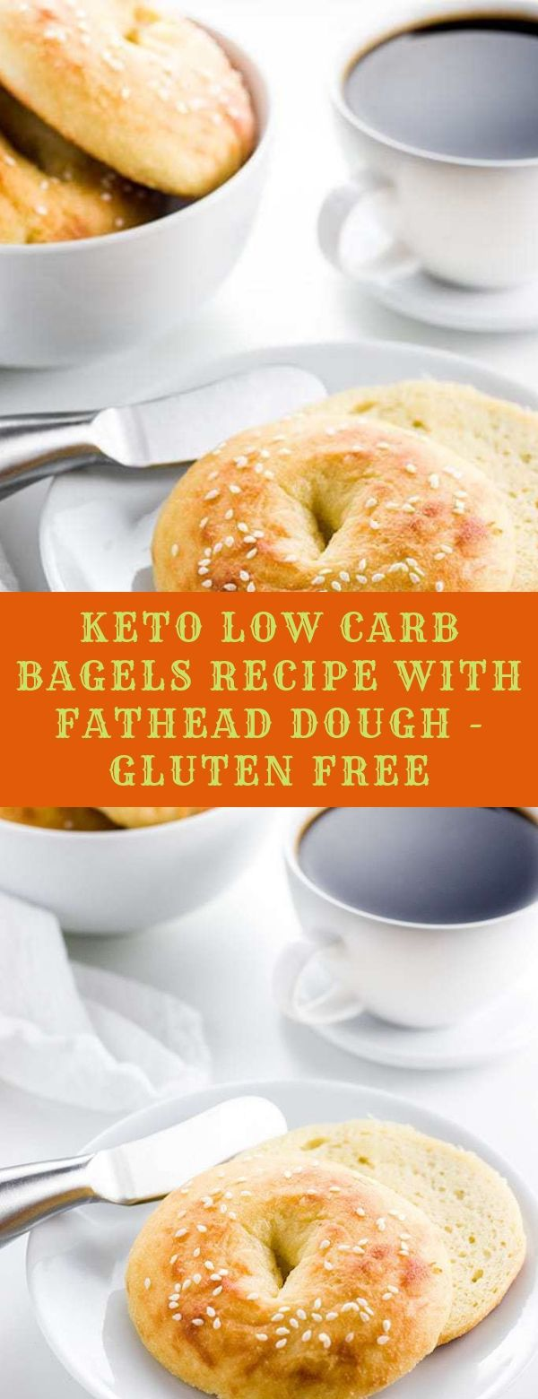 KETO LOW CARB BAGELS RECIPE WITH FATHEAD DOUGH - GLUTEN FREE