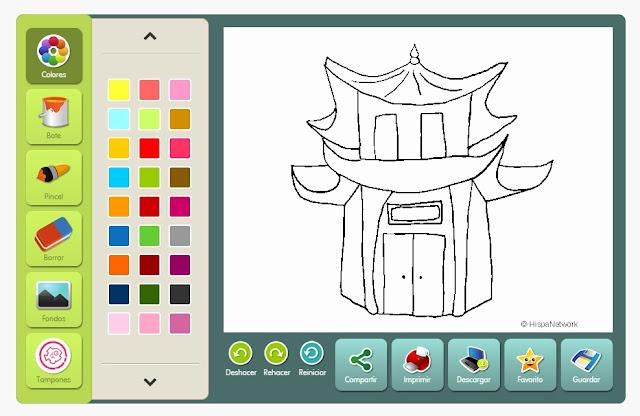 Colorear Pagoda