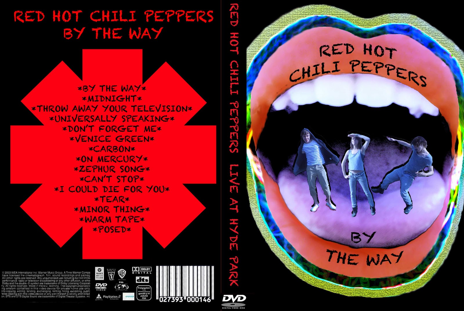 a2 music videos red hot chili peppers dvd cover final. Black Bedroom Furniture Sets. Home Design Ideas