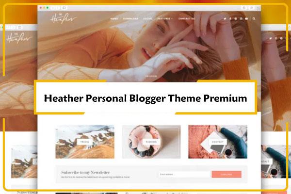 Heather Photographer Blogger Theme Premium