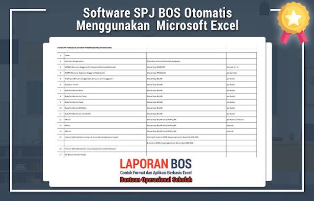 Software SPJ BOS Otomatis Menggunakan Perangkat Lunak Microsoft Excel