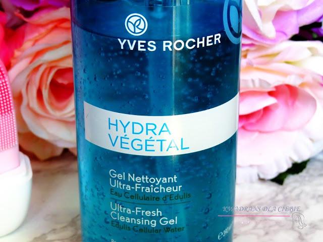 Odświeżający żel do mycia twarzy Hydra Végétal, Yves Rocher Odświeżający żel do mycia twarzy Hydra Végétal, Hydra vegetal żel do mycia twarzy, oczyszczanie twarzy, demakijaż, Yves Rocher Hydra Vegetal, Kwadrans dla Ciebie,
