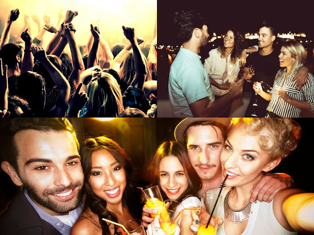salir de fiesta con amigos