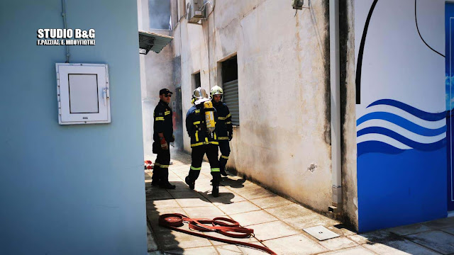 Πυρκαγιά σε σπίτι στο Ναύπλιο (βίντεο)