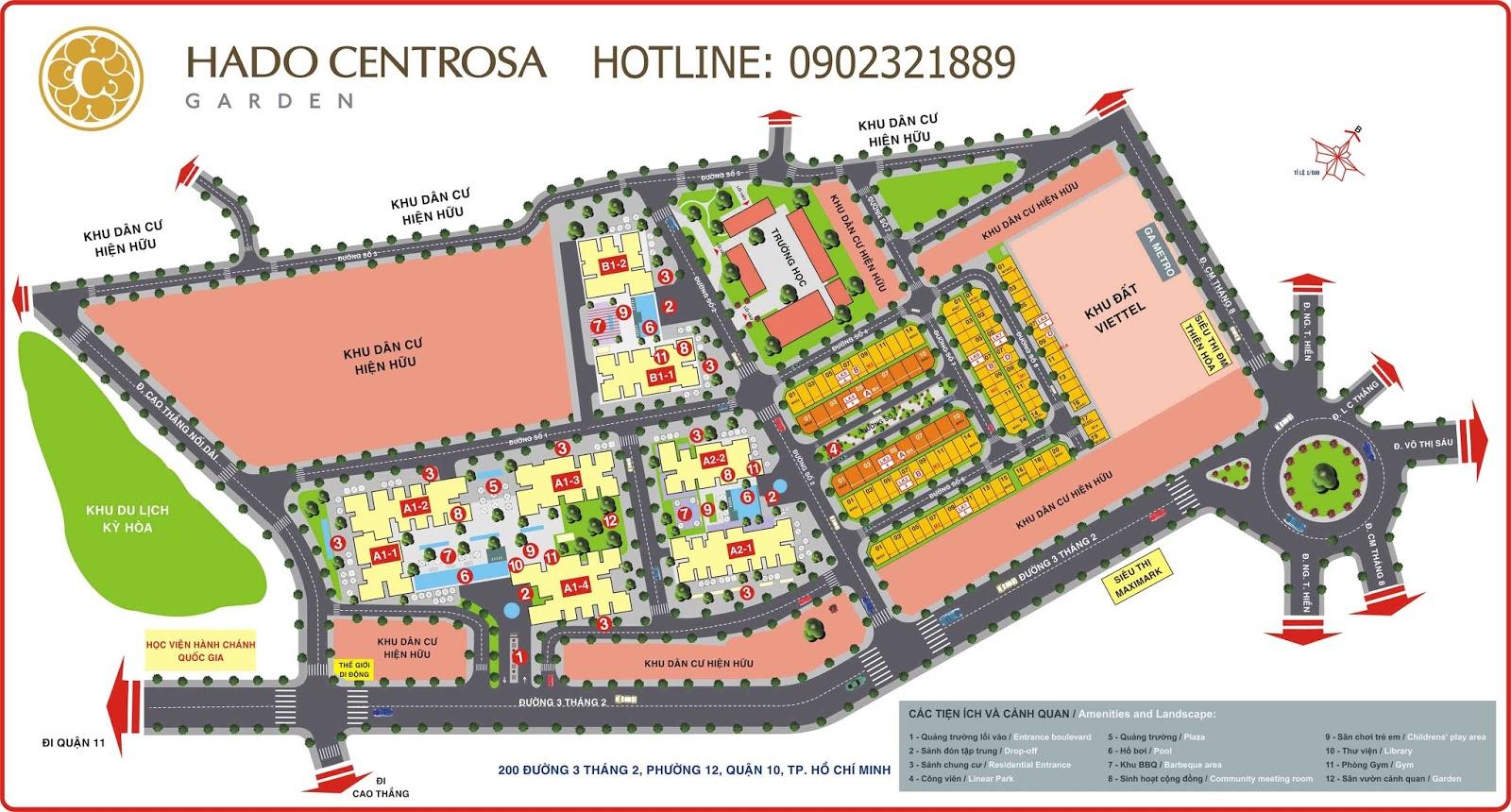 Mặt bằng chi tiết Centrosa Garden - Quận 10