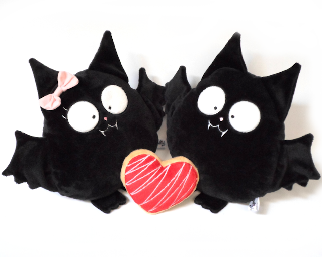 Murciélagos de peluche guyuminos Pareja para boda personalizada vampiro gótico dark kawaii novios regalo aniversario plushies plush toy couple bat gift