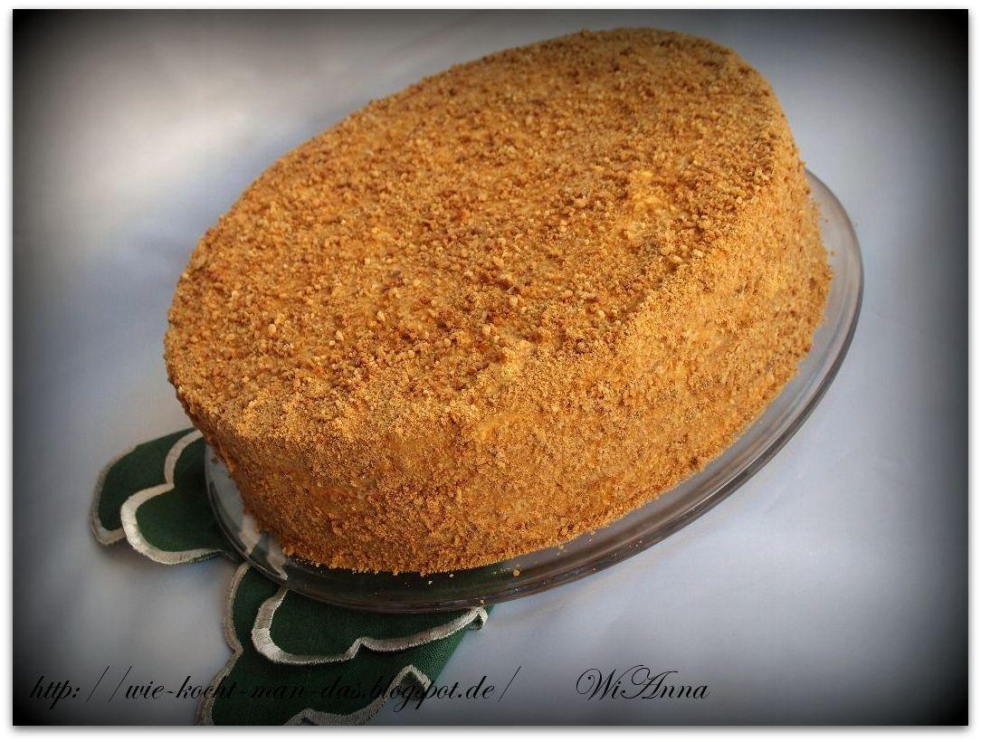 Hier Wird Mit Liebe Gekocht Karamell Honig Torte