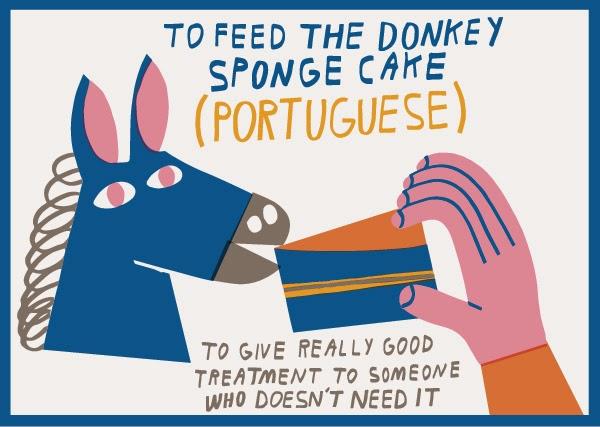 Alimentar um burro a pão-de-ló chaves