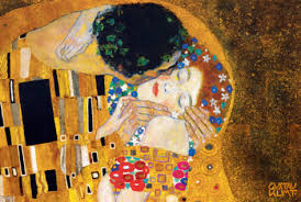 Klimt - The Kiss detail