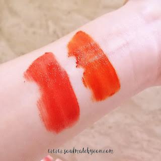 Review; Lilybyred's Mood Liar Velvet Tint #02 Citrus & #03 Apricot