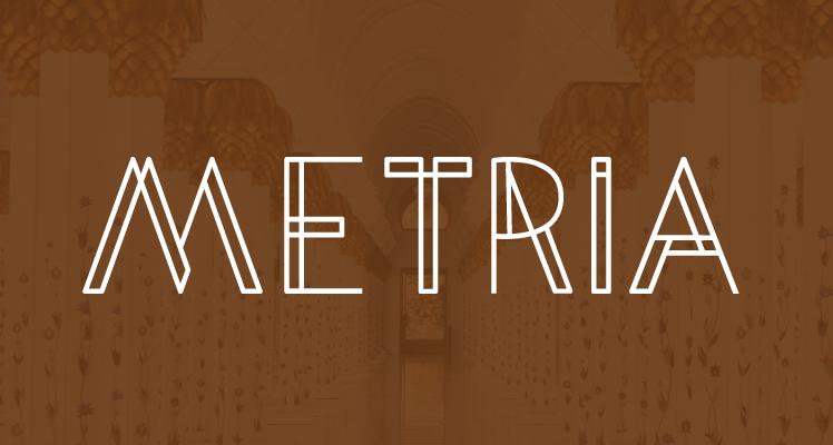 Metria Free Font Preview