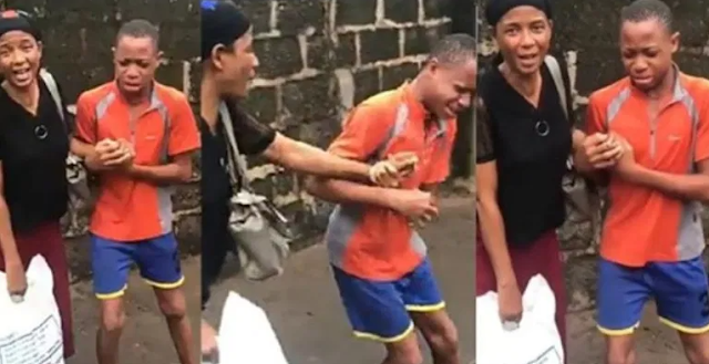 Young Nigerian boy in tears as he drags his mum for refusing to pay back the money he gave her (Watch)