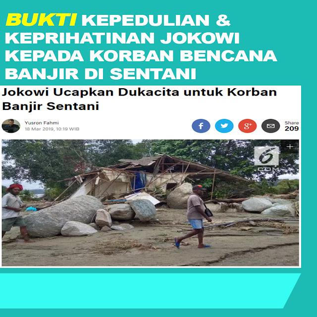Jokowi Ucapkan Dukacita Untuk Korban Banjir Sentani
