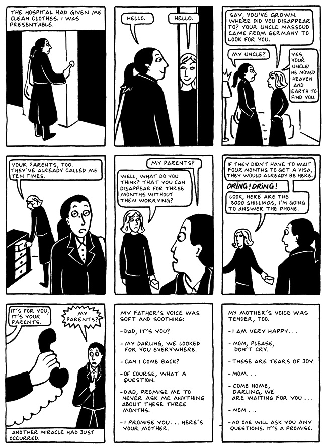 Read Chapter 9 - The Veil, page 89, from Marjane Satrapi's Persepolis 2 - The Story of a Return