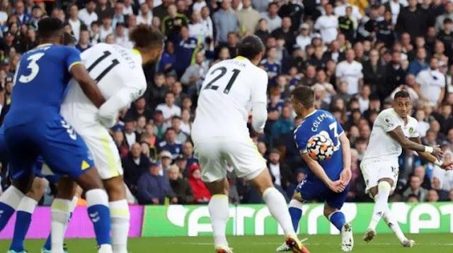 اهداف مباراة ايفرتون وليدز (2-2) الدوري الانجليزي