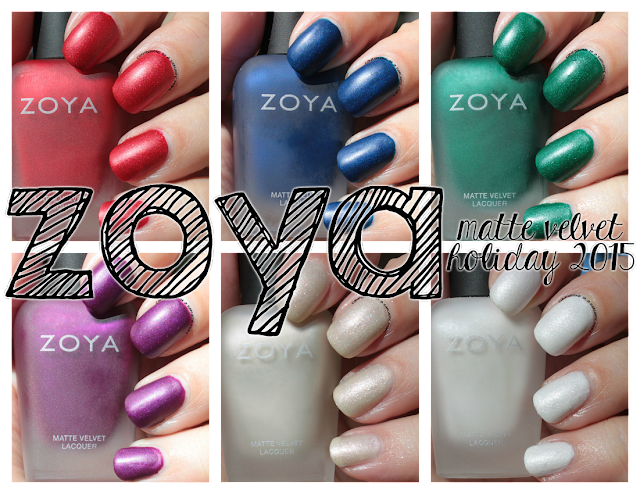 Zoya Matte Velvets for Winter 2015