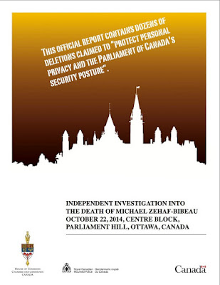 Official Report - Investigation Into the Death of Michael Zehaf-Bibeau