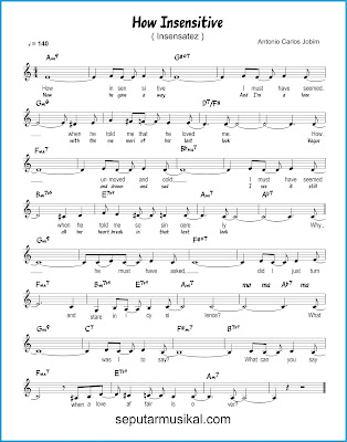 How Insensitive  ( Insensatez ) chords jazz standar