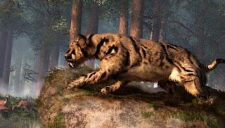dinofelis, felino che visse nell'età della pietra