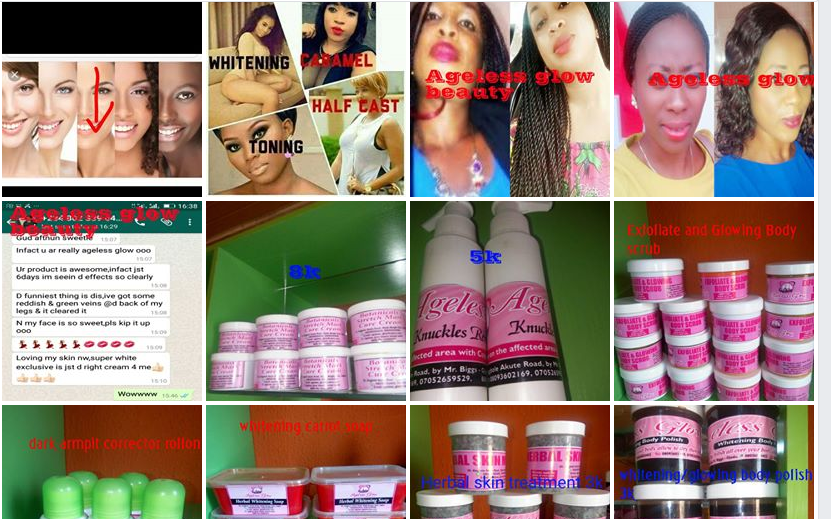 Ageless glow range of beauty products