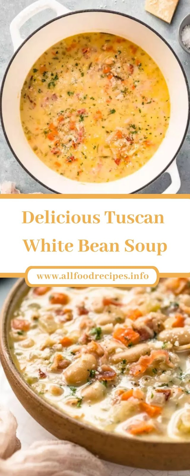 Delicious Tuscan White Bean Soup