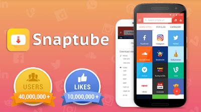 تطبيق SnapTube للأندرويد, تطبيق SnapTube مدفوع للأندرويد, تطبيق SnapTube مهكر للأندرويد