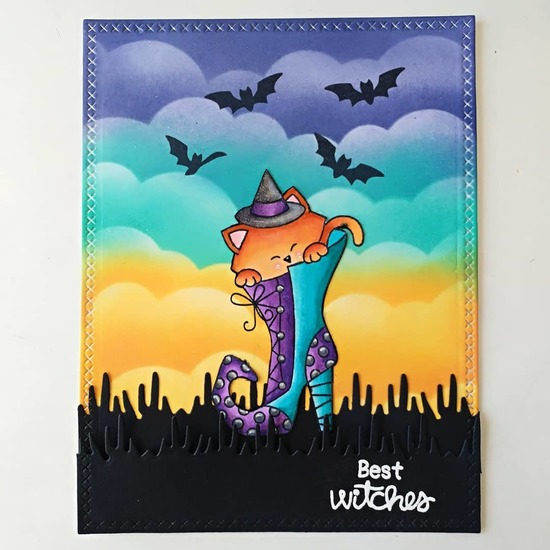 Best witches by Paula features Witchy Newton and Clouds Stencil by Newton's Nook Designs; #newtonsnook