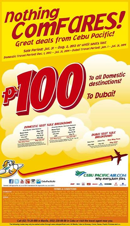Cebu Pacific Nothing ComFARES, promotion