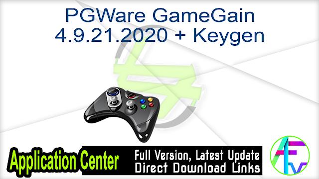 PGWare GameGain 4.9.21.2020 + Keygen
