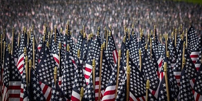 Hundreds of American flags on display for Memorial Day.
