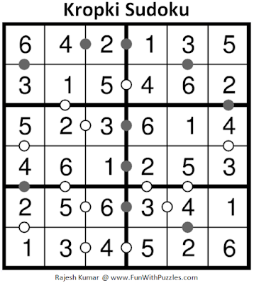 Kropki Sudoku (Mini Sudoku Series #63) Solution