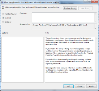 How to enable signed intranet updates using Group Policy 2